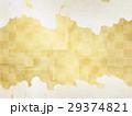 和を感じる背景素材(金箔、雲) 29374821