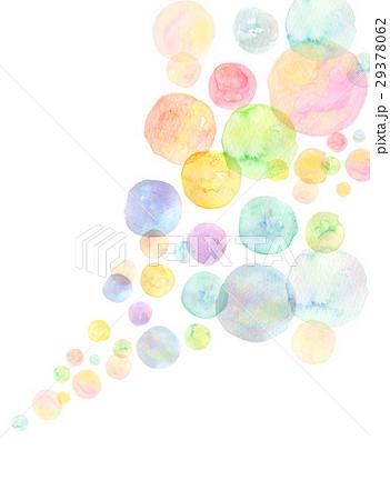 水彩 テクスチャー 虹色 シャボン玉 29378062