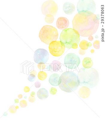 水彩 テクスチャー 虹色 シャボン玉 29378063