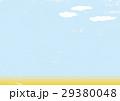 空 田園 麦畑 背景 水彩  29380048