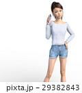 スマホを持つ若い女性 perming3DCG イラスト素材 29382843
