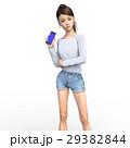スマホを持つ若い女性 perming3DCG イラスト素材 29382844
