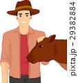 人 農民 家畜のイラスト 29382884