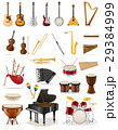 musical instruments set icons vector illustration 29384999
