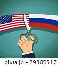 ロシア アメリカ 旗のイラスト 29385517