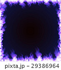 Rectangular frame surrounded with blue flame 29386964