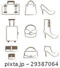 線画 アイコン 白バックのイラスト 29387064