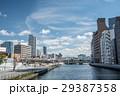 快晴 大阪市 土佐堀川の写真 29387358