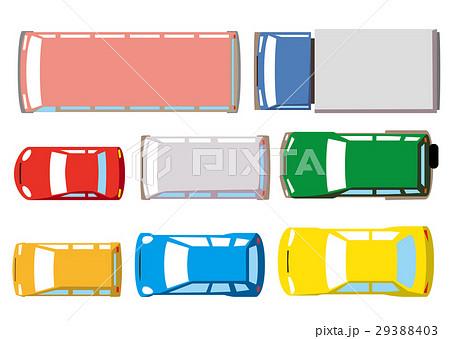上から見た自動車のイラスト素材 29388403 Pixta