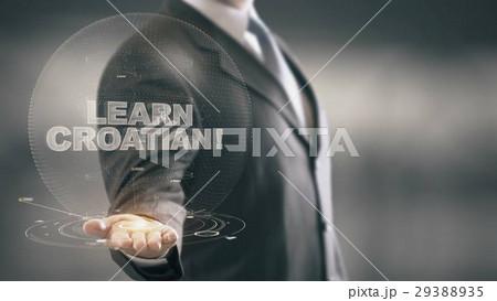 Learn Croatian Hologram Concept Businessman 29388935