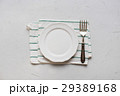 Table Setting Plate Napkin Dish Fork Top View 29389168
