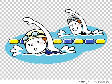 矢量 游泳 爬行 29390649
