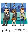 電車の中で疲れてる女性 29393210