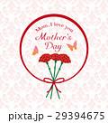 母の日 カーネーション ロゴのイラスト 29394675