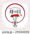 母の日 カーネーション ロゴのイラスト 29394690