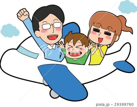 飛行機に乗る家族のイラスト 29399760