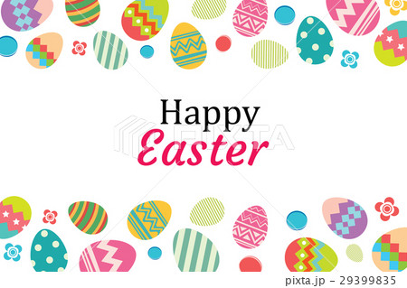 happy easter egg background template のイラスト素材 29399835 pixta