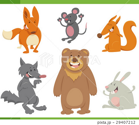 cute animals cartoon set 29407212