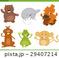 cartoon animal characters set 29407214