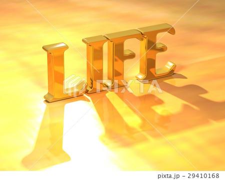 3D Life Gold textのイラスト素材 [29410168] - PIXTA