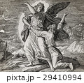 Jacob wrestling with the angel of god, graphic 29410994