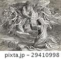 Moses receiving the ten commandments from God 29410998