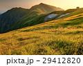 山 草原 夕焼けの写真 29412820