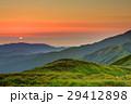飯豊連峰・御西岳から見る日没 29412898