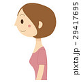 女性 人物 横顔のイラスト 29417695