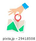GPS 場所 地図のイラスト 29418508
