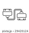 アダプター ケーブル 連結のイラスト 29420124