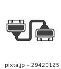 アダプター ケーブル 連結のイラスト 29420125