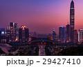 中国 深セン中心地の夕景 マジックアワー 29427410