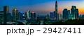 中国 深セン中心地の夕景 マジックアワー 大パノラマ 29427411