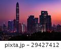中国 深セン中心地の夕景 マジックアワー 29427412