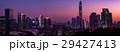 中国 深セン中心地の夕景 マジックアワー 大パノラマ 29427413