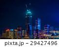 中国 深センの建設中の高層ビル群夜景 29427496