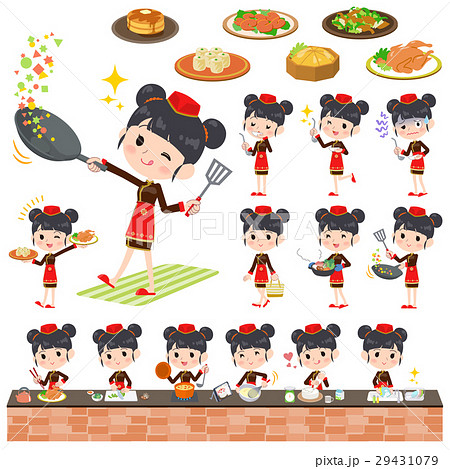 Chinese ethnic clothing woman cooking 29431079