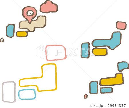 日本地図線画シリーズのイラスト素材 29434337 Pixta