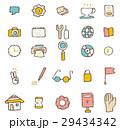 アイコンのセット【線画・シリーズ】 29434342