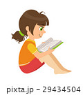 Girl Sitting On The Floor Reading A Book, Part Of 29434504