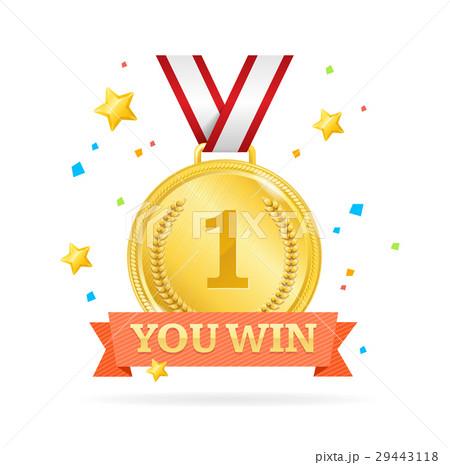 You Win Success Achievement Concept. Vector 29443118