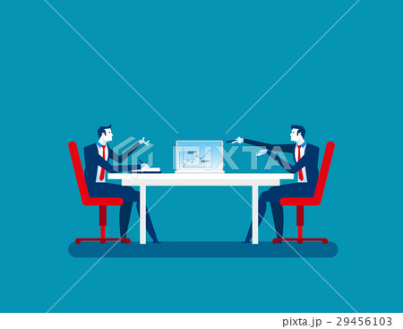 businessman colleagues discuss future plansのイラスト素材 29456103