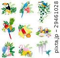 鳥と花・果物のアイコン・マーク 29461028