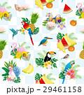 鳥と花・果物の夏イメージパターン 29461158