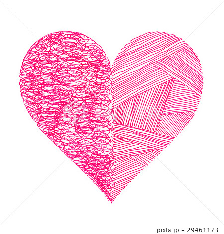 Pink heart with abstract pattern on whiteのイラスト素材 [29461173] - PIXTA