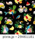 鳥と花・果物のパターン 29461181