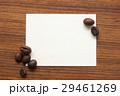 コーヒー豆とカード 29461269