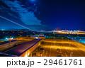 関西国際空港での飛行機離陸の瞬間 光の軌跡と夜景 29461761