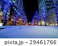 アカレンガテラス前、北海道庁旧本庁舎の前にあるクリスマスイルミネーションと雪 29461766